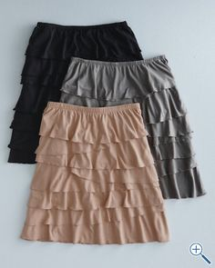 """This is a """"go to"""" skirt.  Have it in two colors.  Tights, boots, leggings, sandals...always works."""