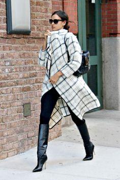 Irina Shayk llegando al Hotel Greenwich, Nueva York.