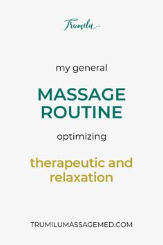 When I was a new massage therapist, I wondered what other massage therapists' general routine was. Having a routine is helpful because you can prepare new clients for what to expect and returning clients understand your general approach. Of course, if you are doing more detail work, you adjust accordingly. This article explains my basic routine for a 90-minute massage that optimizes therapeutic and relaxation in one session. I include a brief outline and then detailed explanations and… I Gen, I Want To Know, Understanding Yourself, Outline, Massage, Relax, Detail, Pictures, Photos