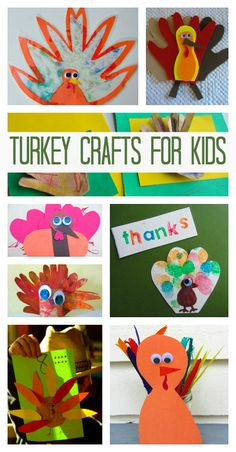 Thanksgiving crafts for kids. { I don't like eating turkey but I love making turkey crafts at Thanksgiving with my kids! }