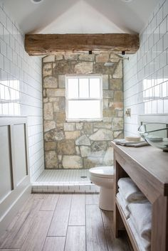 Fixer Upper Bathroom before and afters Pins I Love. Basement Bathroom Ideas Bud Low Ceiling and for Small Space. 100 Best Bathrooms Images In Episode 15 the Giraffe House In 2019 Baths Natural Stone Wall, Natural Stone Bathroom, Bathroom Inspiration, Bathroom Ideas, Gold Bathroom, Rustic Master Bathroom, Small Bathroom, Marble Bathrooms, Basement Bathroom