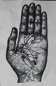 Pointillist study of objects in hand  Experimental drawing  Aamina D