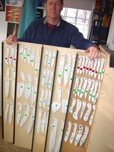 Knife pattern rack with Jay Fisher