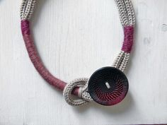 Statement wool necklace. Knot and thread necklace. by ylleanna