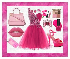 """""""Pink party"""" by yasmimqueen ❤ liked on Polyvore featuring Casetify, L'Agence, Liz Claiborne, Lime Crime, Dolce&Gabbana, Viktor & Rolf, Stila, Tangle Teezer, Maybelline and OPI"""
