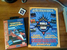 Rulebook and prize for placing first locally. Winners got the pin and their choice of Virtua Racing NBA Jam or Sonic 3!