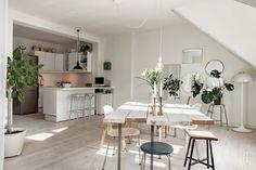 Un appartement scandinave sous les toits de Malmö
