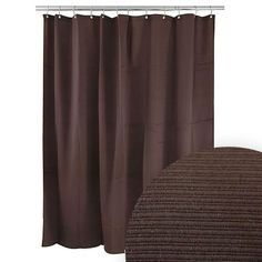 Harman Chocolate Ribbed Shower Curtain Curtains Etc Solid Color