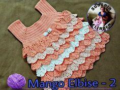 Sevgili hanımlar tığ işi mango kız bebek elbise modelini yaklaşan yaz günlerinde giydirebilirsiniz. Yakadan başlanarak kare yaka örüldükten sonra alt kısmı iki Crochet Designs, Crochet Patterns, Crochet Baby, Knit Crochet, Baby Dress, Dress Pants, Knitting, Mango, Youtube Youtube