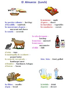 Printable Spanish FREEBIE of the Day: 25-page food in Spanish worksheet packet from PrintableSpanish.com