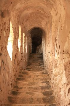 Stairs in the fortifications of Bonifacio, Corsica