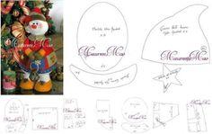 moldes de navidad para hacer muñecos de nieve grandes Christmas Holidays, Xmas, Snowman, Santa, Place Card Holders, Sewing, Projects, How To Make, Crafts