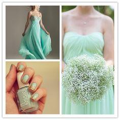 Mint Wedding Board-Bridesmaid Style