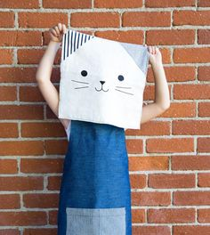 hopewell workshop's new maker's apron for kids (monogrammed!)