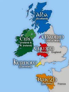 Gli Arcani Supremi (Vox clamantis in deserto - Gothian): Mappa dei Regni Celtici