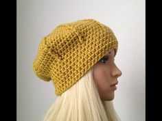 """Wooly Ribs"" hat crochet pattern for beginners - © Woolpedia - YouTube"