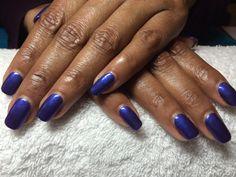 "CND shellac ""Blue Rupture & Purple Purple"" layered"