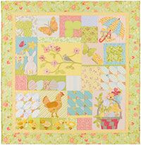 A Graceful Spring Applique Quilt Pattern by A Graceful Stitch at KayeWood.com. A Graceful Spring is one of our four seasons block of the month heirloom quilt patterns. Chicks, spring blossoms and rainy days are perfect to decorate your home for the Spring. http://www.kayewood.com/item/A_Graceful_Spring/3533 $24.00