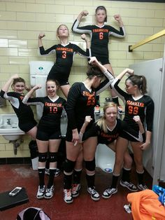 Take fun pictures before each game to remember the whole season (23-3 made state) small team big dream