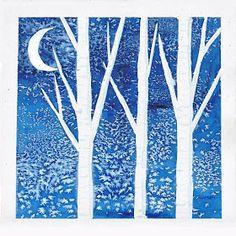 Simple Art Project Ideas: Winter Birch Trees
