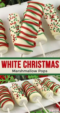 New Year's Desserts, Christmas Desserts Easy, Christmas Sprinkles, Christmas Snacks, Christmas Goodies, Holiday Treats, Christmas Recipes, Holiday Recipes, Marshmallow Desserts