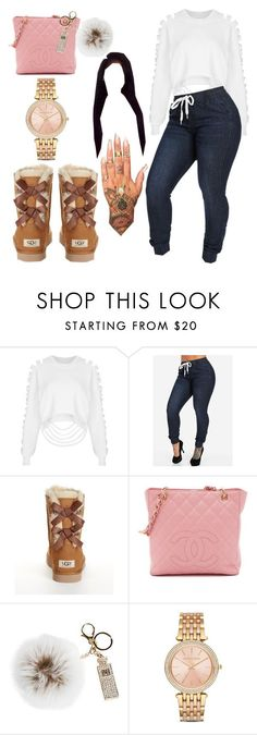 """Untitled #459"" by thisisarisworld ❤ liked on Polyvore featuring The Ragged Priest, UGG Australia, Overland Sheepskin Co. and Michael Kors"