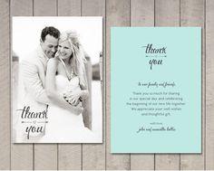 thank you card templates wedding