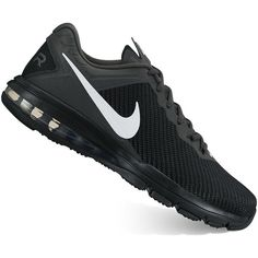 Nike Air Max Full Ride TR 1.5 Men's Cross Training Shoes found on Polyvore featuring polyvore, men's fashion, men's shoes, grey, mens mesh shoes, mens gray dress shoes, mens cross trainer shoes, nike mens shoes and mens shoes