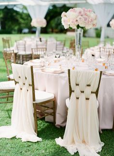 Gorgeous Laced Silk Chairs for the Bride and Groom by Moana Events