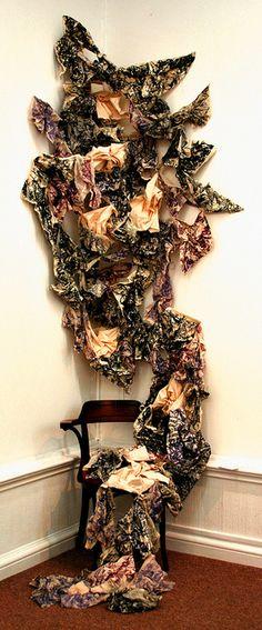 Opinion Is Identity Katie Lewis, Textiles, Design Seeds, Textile Artists, Installation Art, Surface Design, Color Splash, Identity, Fiber