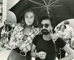 Cybill Shepherd and Martin Scorsese on the set of Taxi Driver