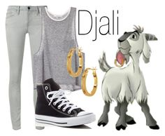 """Djali~ DisneyBound"" by basic-disney ❤ liked on Polyvore featuring Frame Denim, Converse and Argento Vivo"