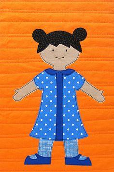 Paper Doll Quilt Pattern digital PDF pattern by ShinyHappyWorld