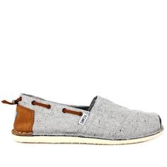 Toms Mens Grey Denim Espadrilles