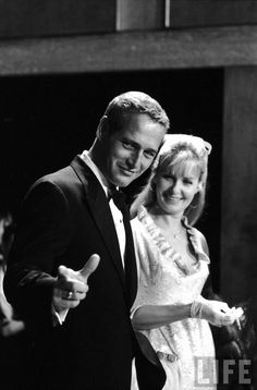Portrait of Joanne Woodward and Paul Newman by Mark Kauffman, 1967