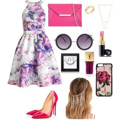 Concept~ Chic by nadine222001 on Polyvore featuring polyvore fashion style Parker Christian Louboutin MICHAEL Michael Kors Cartier Gorjana Dolce&Gabbana Forever 21 Chanel NARS Cosmetics Yves Saint Laurent