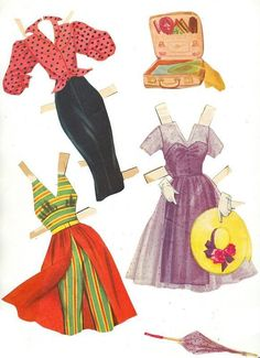 June Allyson - I loved playing with my paper dolls.