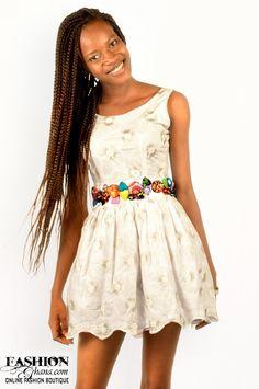 Ekwaiba Colors Laced Skater Dress - FashionGHANA.com (100% African Fashion)