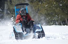 This wheelchair snowmobile is very awesome. It's cool to see people with disabilities getting out for recreation and doing what they're passionate about.