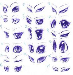 Anime/Cartoon eyes (+tutorials?) by SpadeNightmaren on DeviantArt