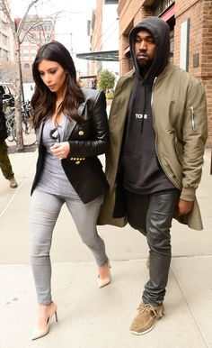 Pin for Later: 16 Times Kim Changed Her Outfit — and Kanye Wore His Sweatshirt