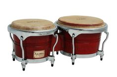 """Tycoon Percussion 7 Inch & 8 1/2 Inch Concerto Series Bongos - Red Finish by Tycoon Percussion. $100.54. Tycoon Percussion's Concerto Series Bongos are constructed of carefully selected aged Siam Oak with 7"""" & 8.5"""" water buffalo skin heads for rich bass tones and crisp highs.  Super high gloss lacquer polished over five stunning finishes protects the drum and looks great on stage.  Perfect for live or studio use. Bongo stands and bags are available as an addit..."""