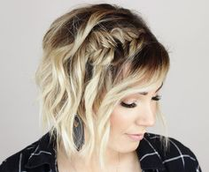 Cute Braided Hairstyles for Short Hair in 2019 - Hair Trends Website Cute Braided Hairstyles, Braids For Short Hair, Cute Hairstyles For Short Hair, Short Hair Cuts, Short Hair Styles, Bob Hairstyles How To Style, Curling Short Hair, Styling Short Hair Bob, Headbands For Short Hair