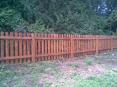 short fences for yards | Wood Picket Fence