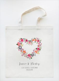 personalized hand painted wedding tote