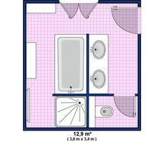 Plan de salle de bain : grande salle de bain