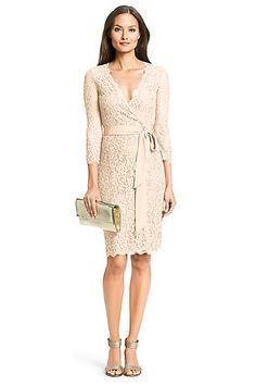 DVF Julianna Lace Wrap Dress in Heaven
