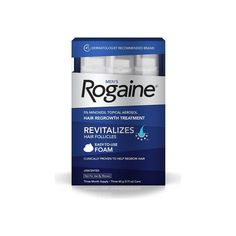 Rogaine Men's Easy-To-Use Foam - 6.33 oz, 3 ea