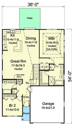 Vacation Cottage - 57310HA   1st Floor Master Suite, CAD Available, Cottage, Narrow Lot, PDF, Split Bedrooms, Vacation   Architectural Designs