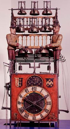Inspiration for Steampunk  Antique Musical clock-automaton